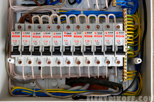 аккуратно собранный электрический щиток